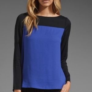 [Joie] color block long sleeve blouse
